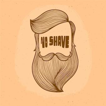 Priorità bassa di disegno di movember con la barba dei pantaloni a vita bassa