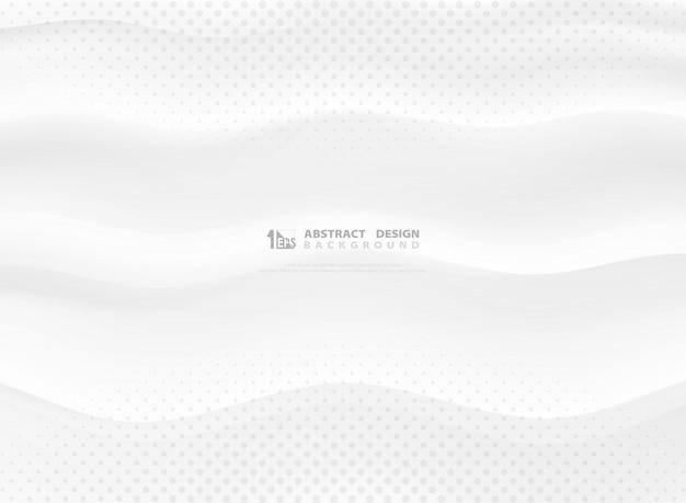 Priorità bassa di disegno ondulato bianco gradiente astratto di vettore