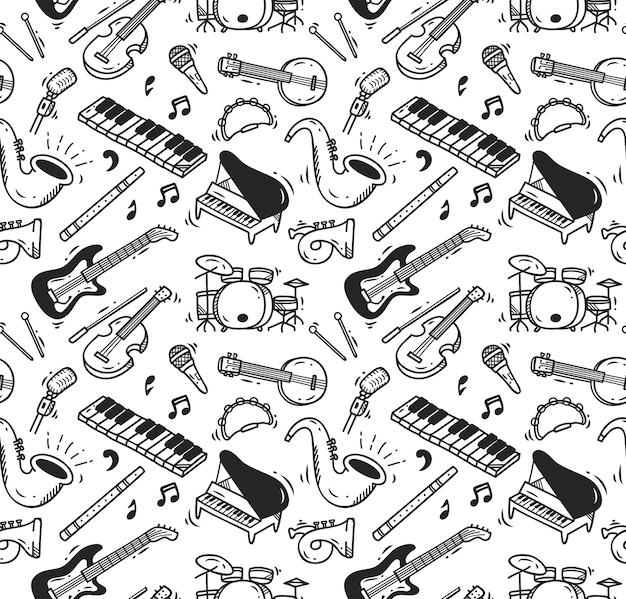 Priorità bassa di doodle di strumento musicale