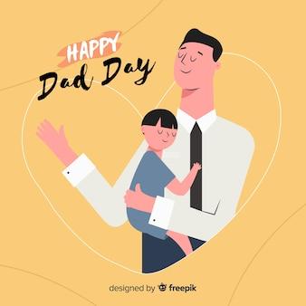 Priorità bassa di festa del papà disegnata a mano