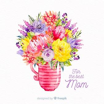 Priorità bassa di festa della mamma floreale