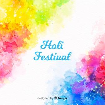 Priorità bassa di festival di acquerello holi