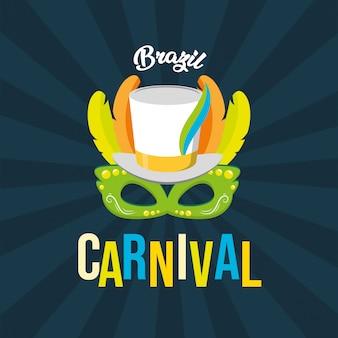 Priorità bassa di festival di carnevale del brasile