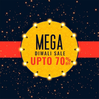 Priorità bassa di festival di vendita di mega diwali