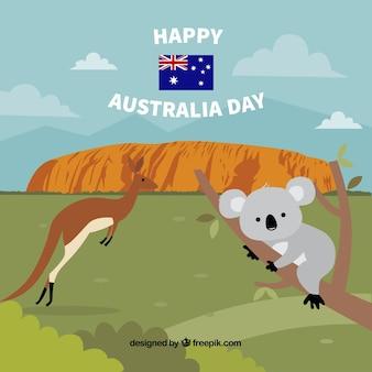 Priorità bassa di giorno australia disegnata a mano