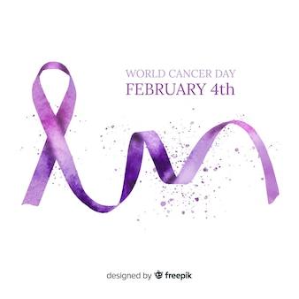Priorità bassa di giorno del cancro del mondo dell'acquerello
