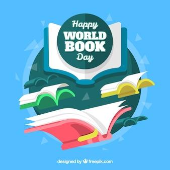Priorità bassa di giorno del libro del mondo