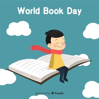 Priorità bassa di giorno del libro di mondo disegnato a mano