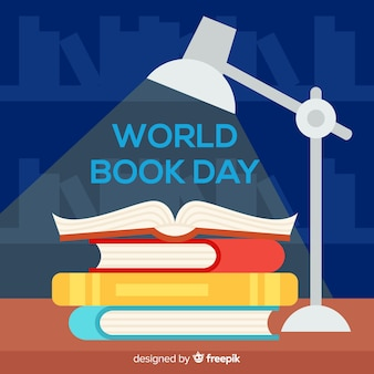 Priorità bassa di giorno del libro piatto mondo