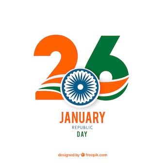 Priorità bassa di giorno della repubblica dell'india