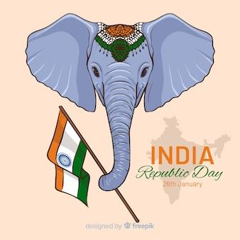 Priorità bassa di giorno della repubblica indiana