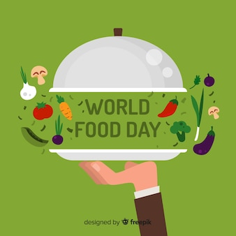 Priorità bassa di giorno di cibo mondo creativo