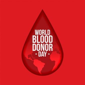 Priorità bassa di giorno di donatore di sangue del mondo
