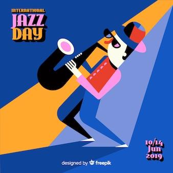 Priorità bassa di giorno di jazz internazionale dell'annata