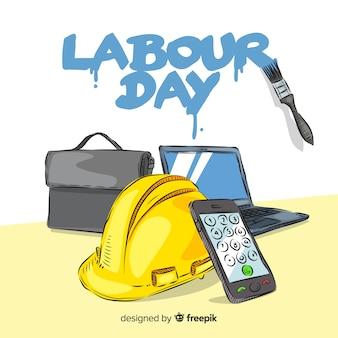 Priorità bassa di giorno di lavoro disegnato a mano