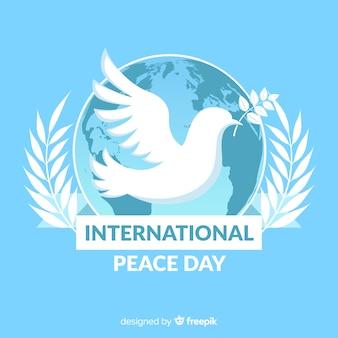 Priorità bassa di giorno di pace piatto colomba