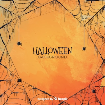 Priorità bassa di Halloween nello stile dell'acquerello