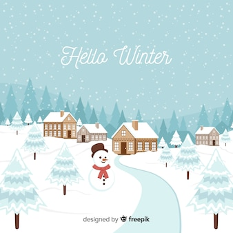 Priorità bassa di inverno del pupazzo di neve