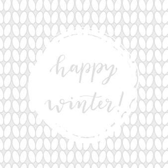 Priorità bassa di inverno lavorato a maglia