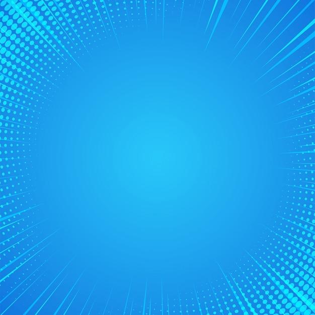 Priorità bassa di luce solare comica astratta blu del fumetto.