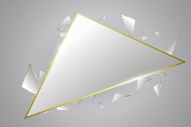 Priorità bassa di lusso astratta. illustrazione di vettore. concetto futuristico. triangoli lucidi stile premium