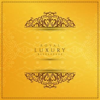 Priorità bassa di lusso elegante gialla astratta