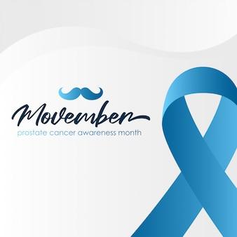 Priorità bassa di mese di consapevolezza del cancro alla prostata movember