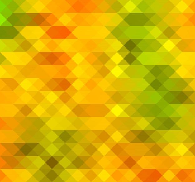 Priorità bassa di mosaico di triangoli di colore arancione-verde colorato