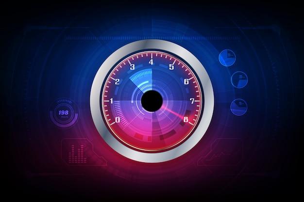 Priorità bassa di movimento di velocità con auto tachimetro veloce