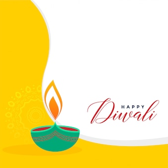 Priorità bassa di saluto diwali di stile piano creativo