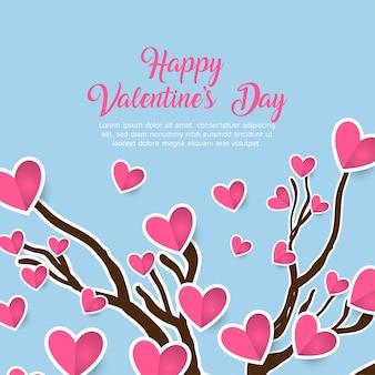 Priorità bassa di san valentino romantico cuori floreali carino