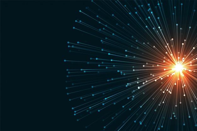 Priorità bassa di scienza nello stile della rete di tecnologia digitale