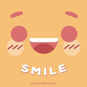 Priorità bassa di smiley piatta