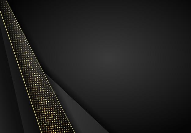 Priorità bassa di sovrapposizione metallica scura astratta. lusso astratto 3d con una combinazione di poligoni luminosi in stile 3d. la progettazione grafica luccica decorazione elemento punti.