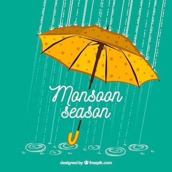 Priorità bassa di stagione dei monsoni con l'ombrello