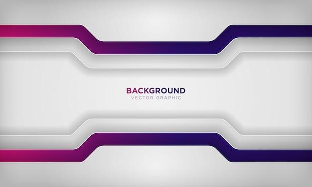 Priorità bassa di strato di sovrapposizione astratta bianca con colore sfumato viola colorato.