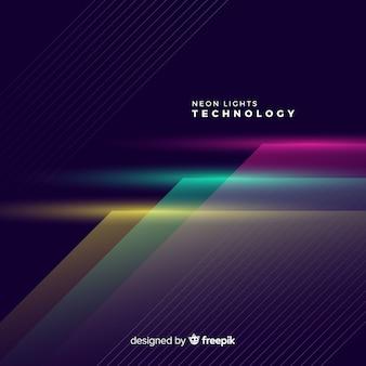Priorità bassa di tecnologia di luci al neon realistico