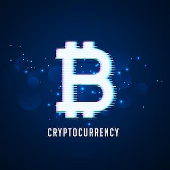 Priorità bassa di tecnologia di simbolo di bitcoins digitali di criptovaluta