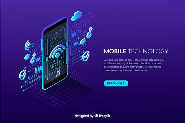 Priorità bassa di tecnologia isometrica dello smartphone di gradiente