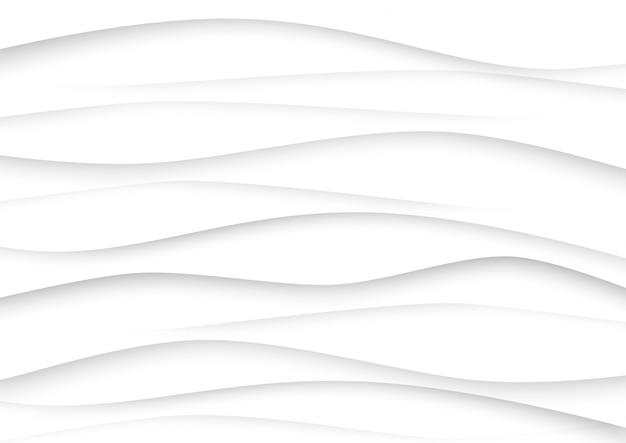 Priorità bassa di tono bianco e grigio dell'onda astratta