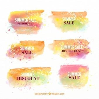 Priorità bassa di vendita di estate nello stile dell'acquerello