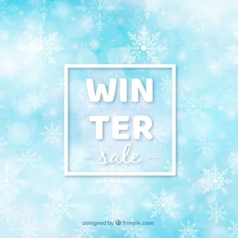Priorità bassa di vendita inverno sfocata