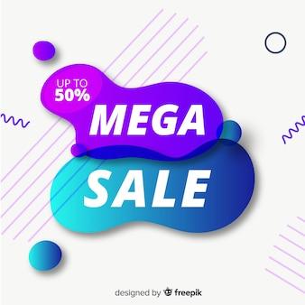 Priorità bassa di vendite astratta effetto fluido