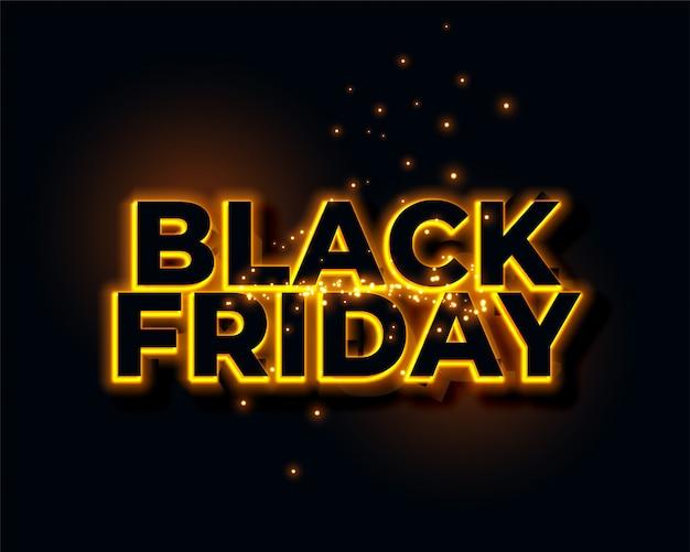 Priorità bassa di venerdì nero al neon giallo incandescente