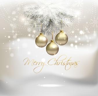 Priorità bassa di vettore di Natale argento chiaro