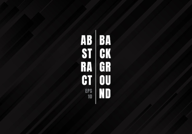 Priorità bassa diagonale nera geometrica astratta delle bande.