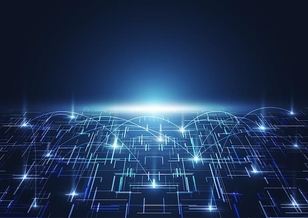 Priorità bassa digitale di grandi dati astratti con tecnologia