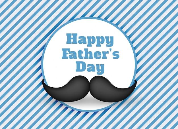 Priorità bassa felice dei baffi di giorno di padri