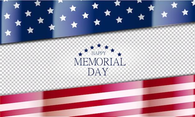 Priorità bassa felice della bandiera di memorial day