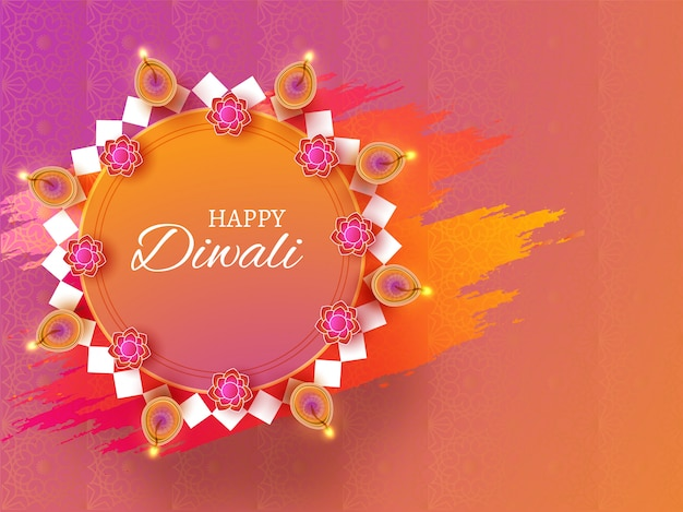 Priorità bassa felice di celebrazione di diwali.